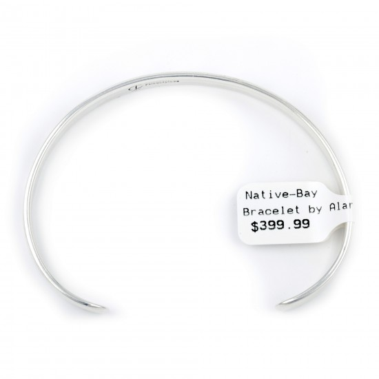 Clouds Water .925 Sterling Silver Water Wave Certified Authentic Handmade Hopi Native American Bracelet 13219-2 All Products NB180518192927 13219-2 (by LomaSiiva)