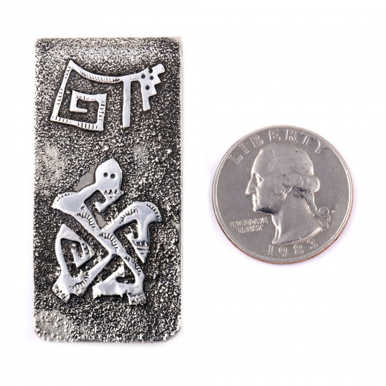 Turtle .925 Sterling Silver Ray Begay Certified Authentic Handmade Navajo Native American Money Clip  13194-17 All Products NB180527023347 13194-17 (by LomaSiiva)
