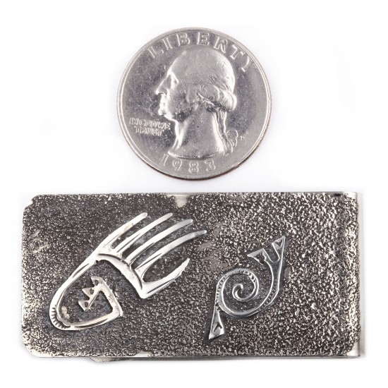 Bear Paw .925 Sterling Silver Ray Begay Certified Authentic Handmade Navajo Native American Money Clip  13194-10 All Products NB180518222409 13194-10 (by LomaSiiva)