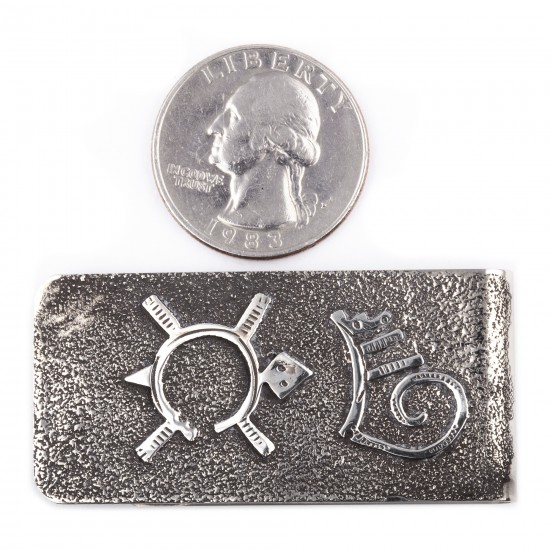 Turtle .925 Sterling Silver Ray Begay Certified Authentic Handmade Navajo Native American Money Clip  13194-6 All Products NB180518225147 13194-6 (by LomaSiiva)