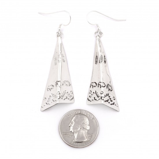 Feather Buffalo Teepee .925 Starling Silver Certified Authentic Handmade Navajo Native American Earrings  27265-1 All Products NB180607034131 27265-1 (by LomaSiiva)