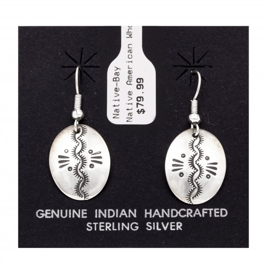 Sun .925 Starling Silver Certified Authentic Handmade Navajo Native American Earrings  27260-2 All Products NB180607034138 27260-2 (by LomaSiiva)