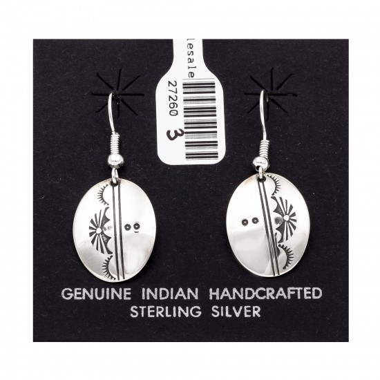 Sun .925 Starling Silver Certified Authentic Handmade Navajo Native American Earrings  27260-3 All Products NB180607034134 27260-3 (by LomaSiiva)