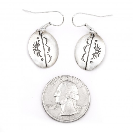 Sun .925 Starling Silver Certified Authentic Handmade Navajo Native American Earrings  27260-4 All Products NB180607034136 27260-4 (by LomaSiiva)