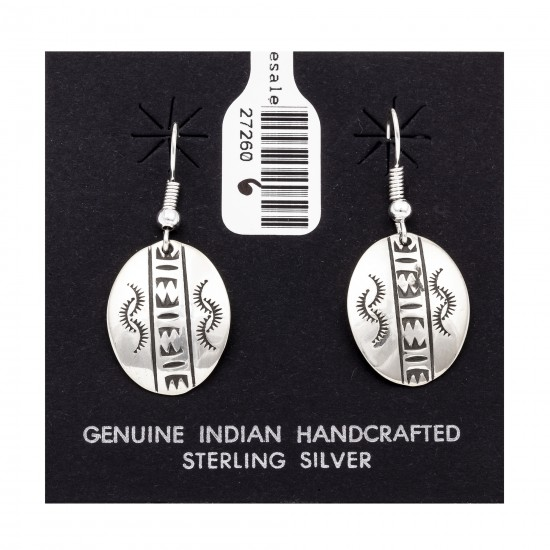 Sun .925 Starling Silver Certified Authentic Handmade Navajo Native American Earrings  27260-6 All Products NB180607034139 27260-6 (by LomaSiiva)