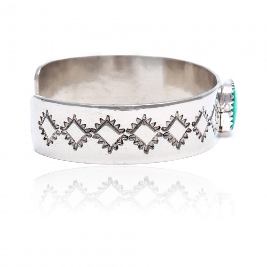 Diamond Nickel Certified Authentic Handmade Navajo Native American Natural Turquoise Cuff Bracelets 13019-9 All Products NB160121001429 13019-9 (by LomaSiiva)