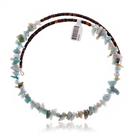 Agate Certified Authentic Navajo Native American Adjustable Choker Wrap Necklace 25563 All Products NB180926223235 25563 (by LomaSiiva)