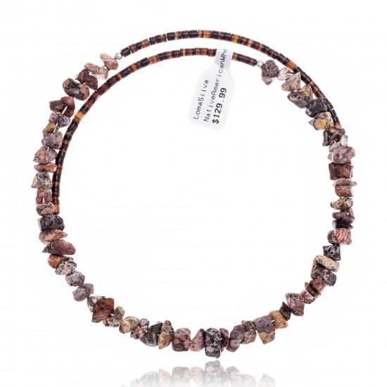 Jasper Certified Authentic Navajo Native American Adjustable Choker Wrap Necklace 25564 All Products NB180926223233 25564 (by LomaSiiva)