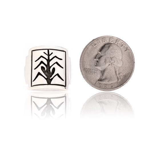 Corn Stalk .925 Sterling Silver Certified Authentic Handmade Hopi Native American Ring 26231 All Products NB180623231243 26231 (by LomaSiiva)