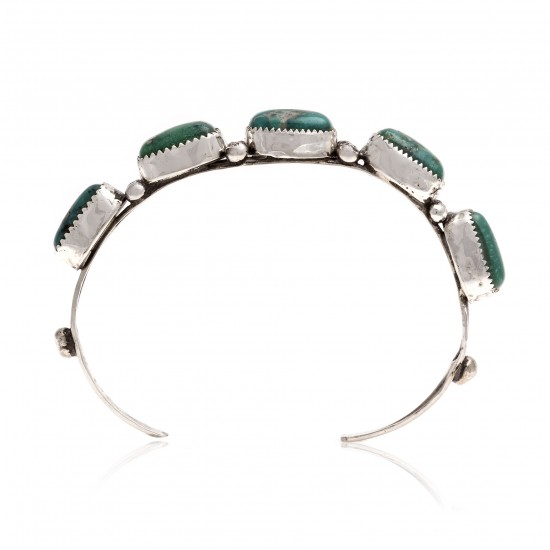 Handmade Certified Authentic Nugget Navajo .925 Sterling Silver Natural Turquoise Native American Cuff Bracelet 13169 Clearance NB160428224515 13169 (by LomaSiiva)