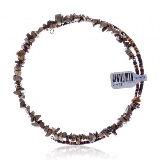 Wild Horse Certified Authentic Navajo Native American Adjustable Choker Wrap Necklace 25572 All Products NB180926223249 25572 (by LomaSiiva)