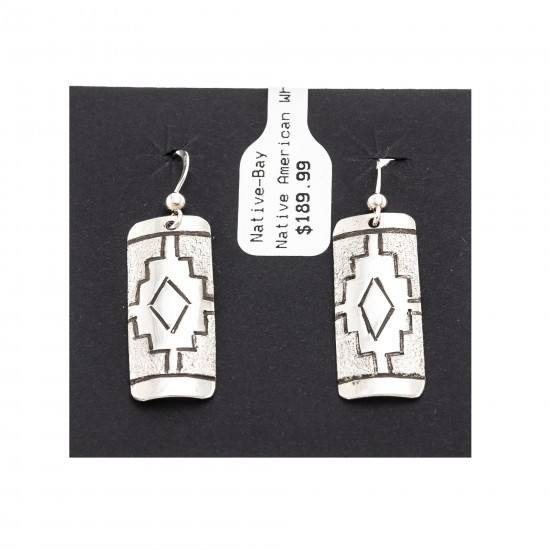 .925 Sterling Silver Certified Authentic Handmade Navajo Native American Earrings 18312 All Products NB180612004647 18312 (by LomaSiiva)