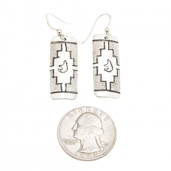 Bear .925 Sterling Silver Certified Authentic Handmade Navajo Native American Earrings 18312-2 All Products NB180612005743 18312-2 (by LomaSiiva)