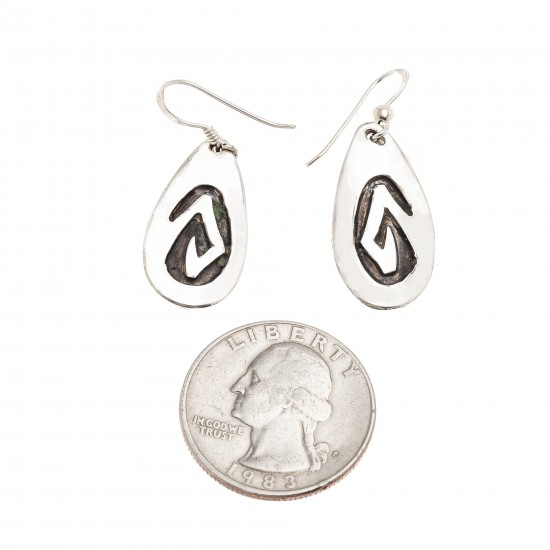 Drop Snake .925 Sterling Silver Certified Authentic Handmade Navajo Native American Earrings 18311-2 All Products NB180612010728 18311-2 (by LomaSiiva)