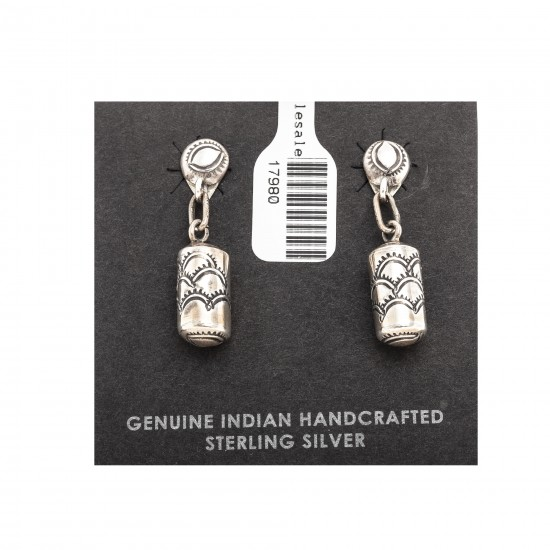 Sun .925 Sterling Silver Certified Authentic Handmade Navajo Native American Earrings 17980 All Products NB180612015030 17980 (by LomaSiiva)