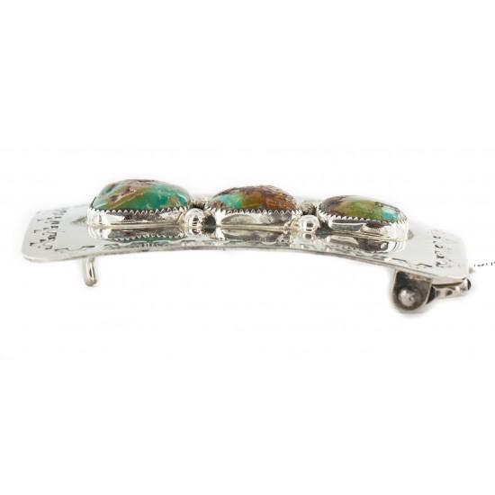 Certified Authentic Handmade Navajo Nickel Natural Turquoise Native American Buckle 1215 All Products NB160207073115 1215 (by LomaSiiva)
