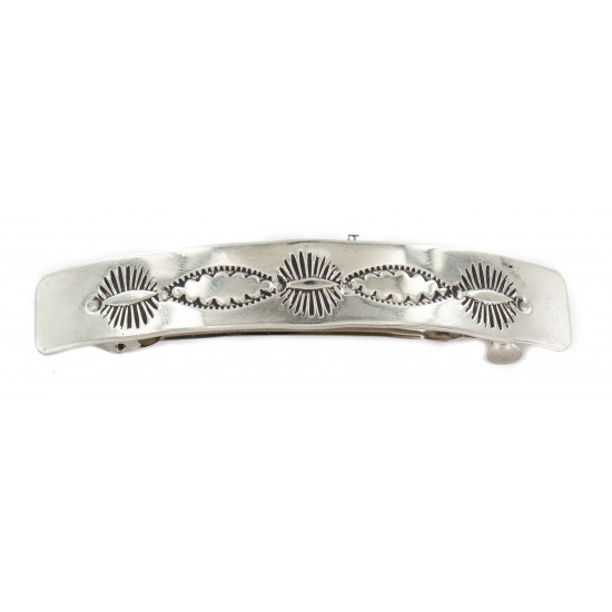 Certified Authentic Handmade Nickel Navajo Native American Hair Barrette 10343-1 All Products NB160207072055 10343-1 (by LomaSiiva)