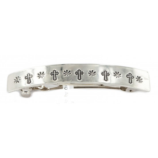 Handmade Certified Authentic Cross Nickel Navajo Native American Hair Barrette 10344-3 All Products NB160207072602 10344-3 (by LomaSiiva)
