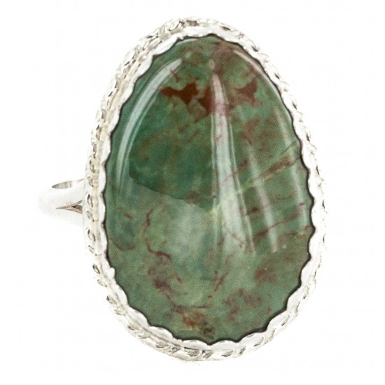 .925 Sterling Silver Handmade Certified Authentic Navajo Natural Turquoise Native American Ring 18188-3 All Products NB160212194402 18188-3 (by LomaSiiva)