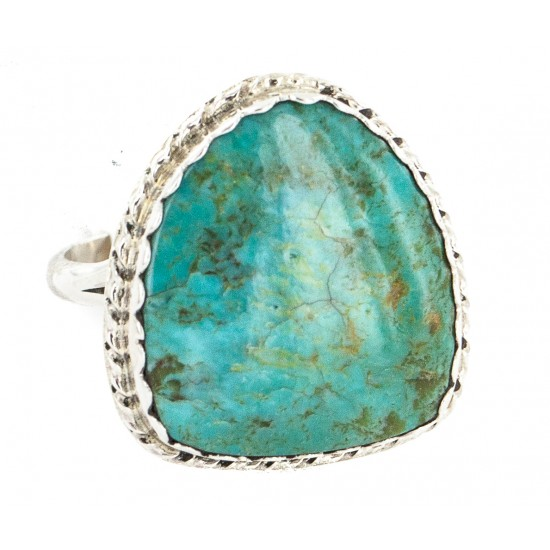 .925 Sterling Silver Handmade Certified Authentic Navajo Natural Turquoise Native American Ring 18188-4 All Products NB160212201448 18188-4 (by LomaSiiva)