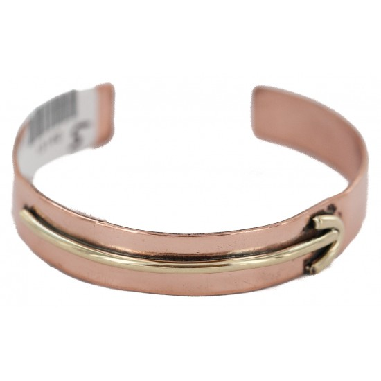 Certified Authentic Arrow Handmade Pure Navajo Native American Brass Copper Bracelet 13140-5 All Products NB160406053028 13140-5 (by LomaSiiva)
