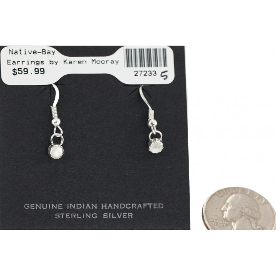 Certified Authentic Navajo .925 Sterling Silver Natural Mother of Pearl Native American Dangle Earrings 27233-5 All Products NB160506180737 27233-5 (by LomaSiiva)