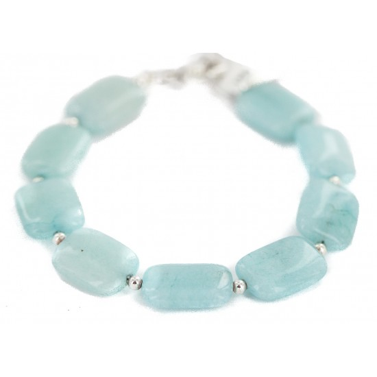 Navajo Nickel Certified Authentic Natural Blue Quartz Native American Bracelet 13175 All Products NB160514193521 13175 (by LomaSiiva)