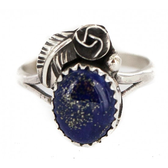 Handmade Certified Authentic Navajo .925 Sterling Silver Natural Lapis Native American Ring  26212-2 All Products NB160603172329 26212-2 (by LomaSiiva)