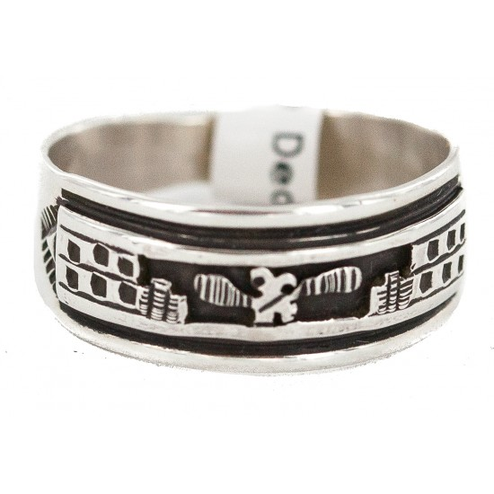 .925 Sterling Silver Certified Authentic Hopi Native American Ring Size 10  18310-2 All Products NB160603014620 18310-2 (by LomaSiiva)