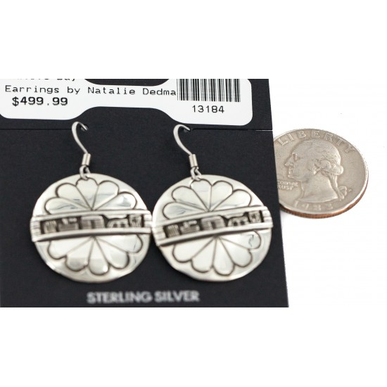 .925 Sterling Silver Certified Authentic Hopi Story Teller Native American Dangle Earrings 13184 All Products NB160603000853 13184 (by LomaSiiva)