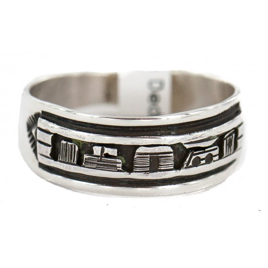 .925 Sterling Silver Certified Authentic Hopi Story Teller Native American Ring Size 12 18306 All Products NB160603001435 18306 (by LomaSiiva)