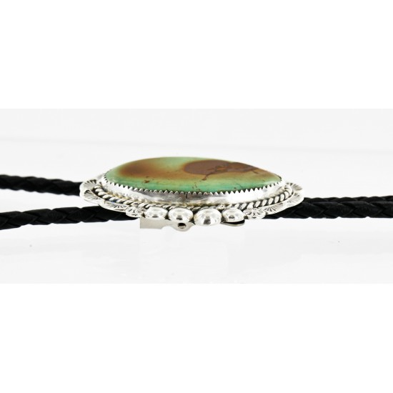 Handmade Certified Authentic Navajo .925 Sterling Silver Natural Turquoise Native American Bolo Tie  24408-1 All Products 24408-1 24408-1 (by LomaSiiva)