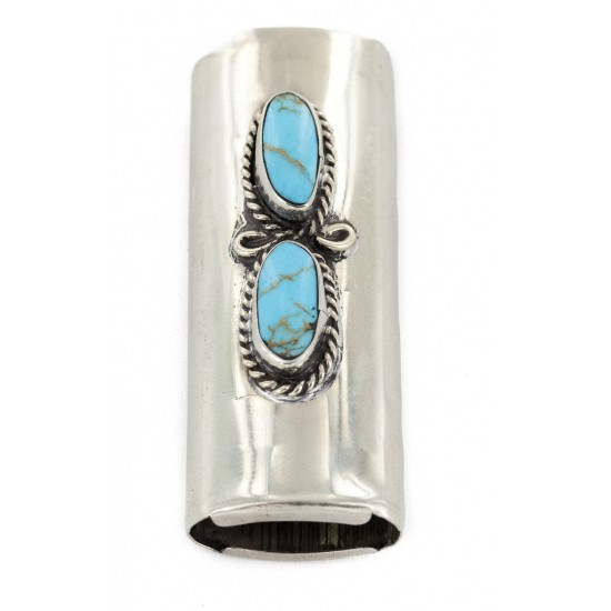 Certified Authentic Navajo Nickel .925 Sterling Silver Natural Turquoise Native American Lighter Case 18123 Lighter Cases NB151216232227 18123 (by LomaSiiva)