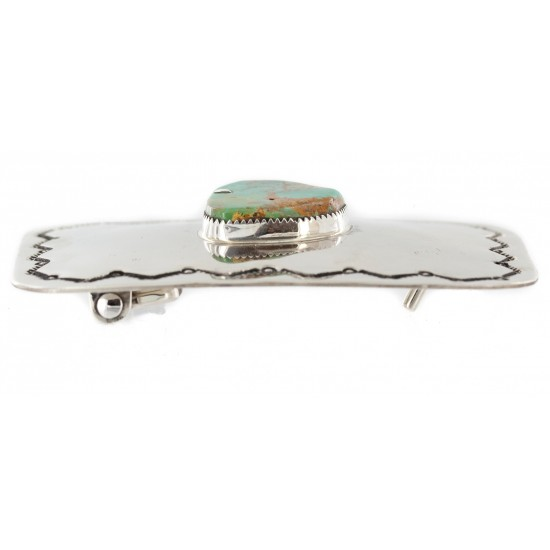 Certified Authentic Handmade Navajo Nickel Natural Turquoise Native American Buckle 1207-3 All Products NB151215041123 1207-3 (by LomaSiiva)