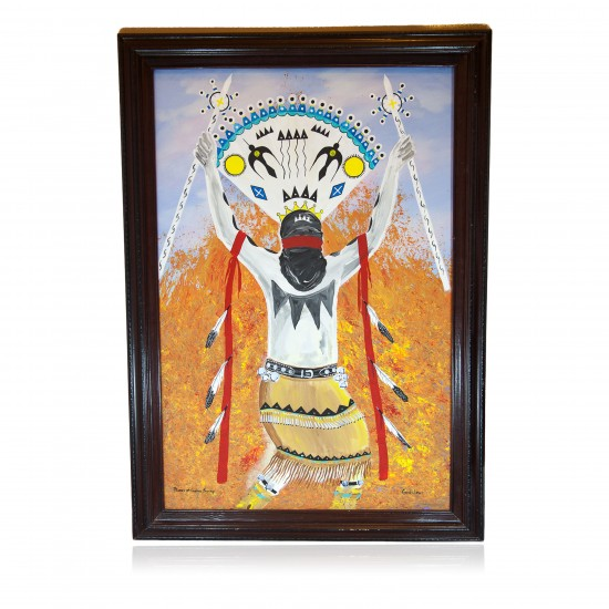 $800 Apache Painted by Certified Authentic Acrylic Flames of Gopher Springs Native American Painting  10784-101 Painting NB160311000507 10784-101 (by LomaSiiva)