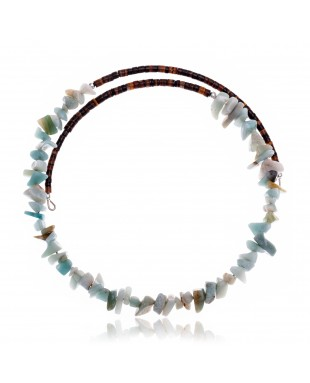 Agate Certified Authentic Navajo Native American Adjustable Choker Wrap Necklace 25563