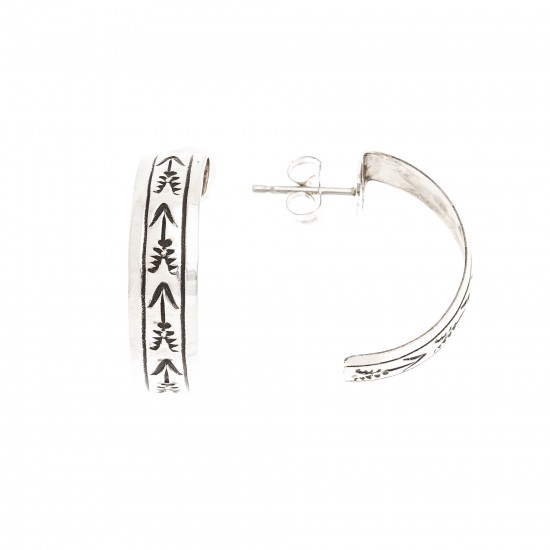 Arrow .925 Sterling Silver Certified Authentic Handmade Navajo Native American Earrings 13185-2 All Products NB180612013247 13185-2 (by LomaSiiva)