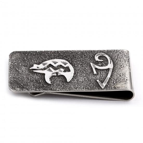 Bear .925 Sterling Silver Certified Authentic Handmade Navajo Native American Money Clip 13194-5 All Products NB180604224649 13194-5 (by LomaSiiva)
