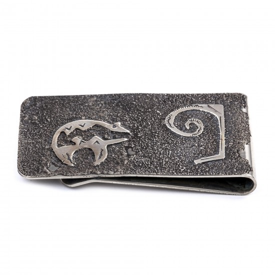 Bear .925 Sterling Silver Ray Begay Certified Authentic Handmade Navajo Native American Money Clip  13194-4 All Products NB180518225531 13194-4 (by LomaSiiva)