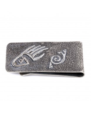 Bear Paw .925 Sterling Silver Ray Begay Certified Authentic Handmade Navajo Native American Money Clip  13194-10