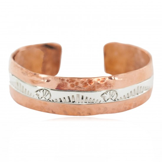 Certified Authentic .925 Sterling Silver Hammered Bear Navajo Handmade Native American Pure Copper Bracelet 13155 All Products NB160423213219 13155 (by LomaSiiva)