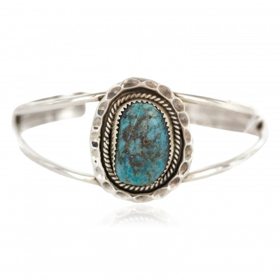 Certified Authentic .925 Sterling Silver Navajo Handmade Natural Turquoise Native American Cuff Bracelet 1307 All Products NB160602220956 1307 (by LomaSiiva)