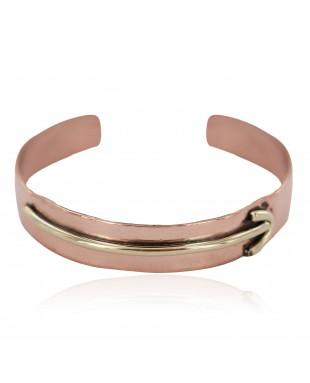 Certified Authentic Arrow Handmade Pure Navajo Native American Brass Copper Bracelet 13140-5