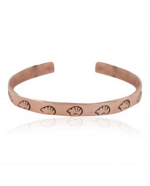 Certified Authentic Bear Handmade Navajo Native American Pure Copper Bracelet 24492-3