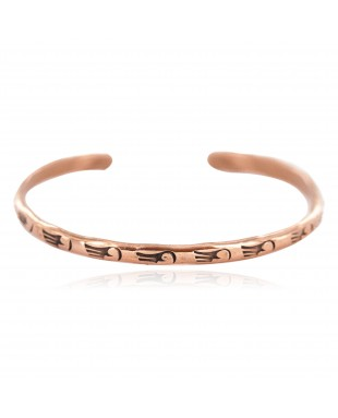 Certified Authentic Bear Paw Handmade Navajo Native American Pure Copper Bracelet 18299