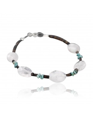 Certified Authentic Charlene Litle Navajo .925 Sterling Silver Natural Turquoise Quartz Native American Bracelet 370980049788