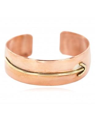 Certified Authentic Handmade Brass Navajo Native American Pure Copper Bracelet 13097-11