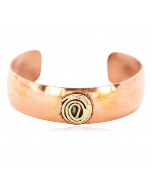 Certified Authentic Handmade Navajo Brass Native American Pure Copper Bracelet 13097-1