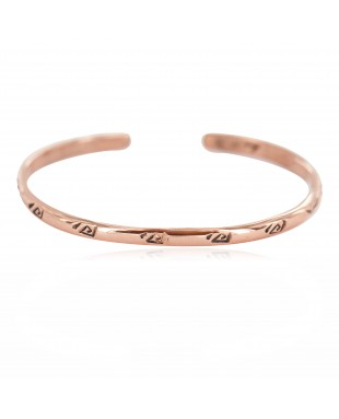 Certified Authentic Handmade Navajo Native American Pure Copper Bracelet 13152-2