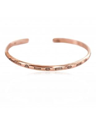 Certified Authentic Handmade Navajo Native American Pure Copper Bracelet 13152-3